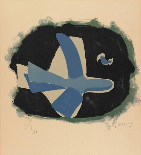 Georges Braque - Oiseau des forêts (Oiseau XVII)