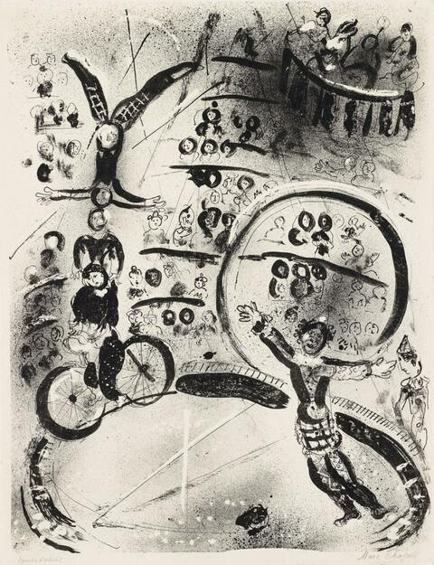 Marc Chagall - Les Cyclistes