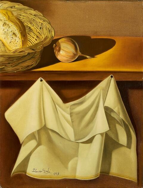 Salvador Dali Y Domenech - Nature morte au drapé blanc (Stilleben mit weißem Tuch)
