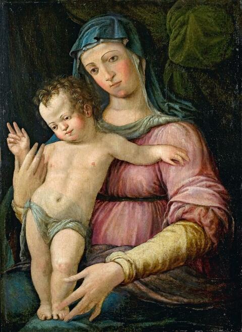 Italienischer Meister des 16. Jahrhunderts - MADONNA MIT KIND