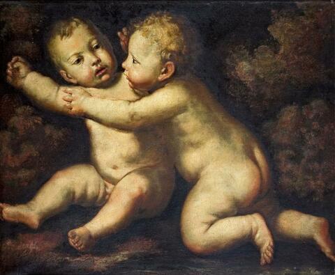 Italienischer Meister des 17. Jahrhunderts - ZWEI PUTTEN