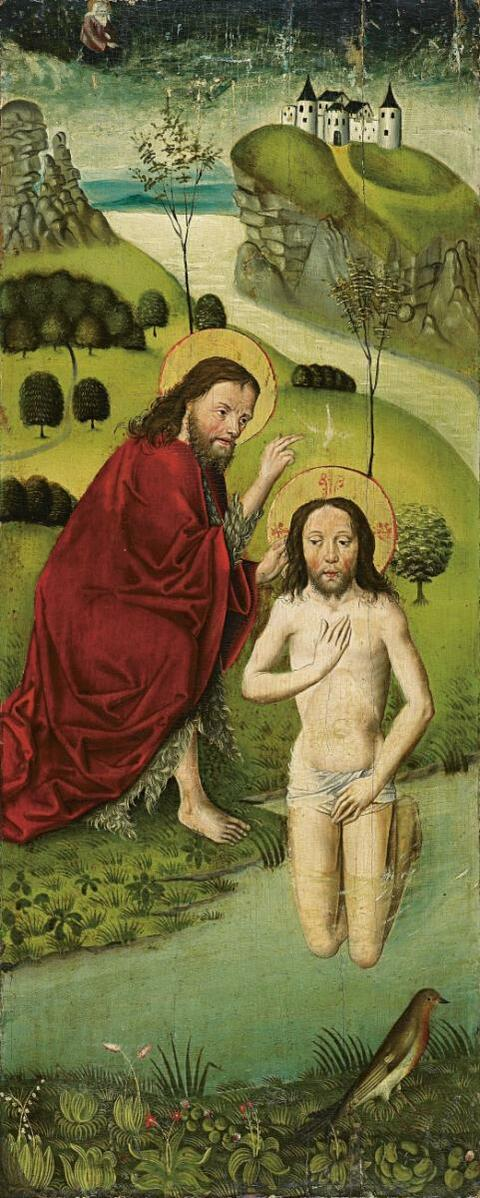 Central Rhine School, circa 1480 - BAPTISM OF CHRIST