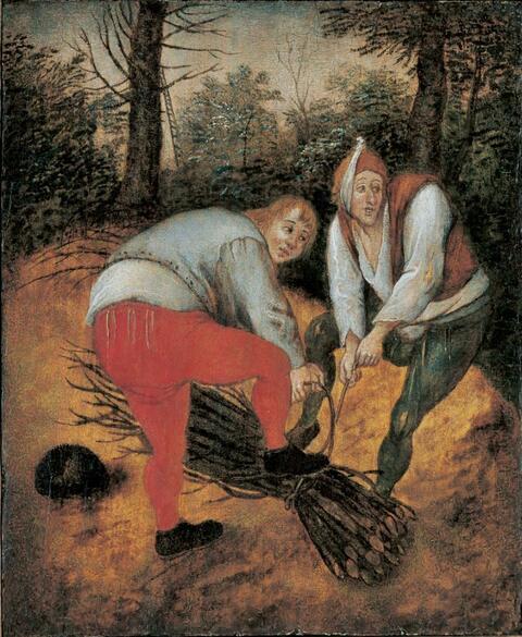 Pieter Brueghel d. J. - REISIG SAMMELNDE BAUERN