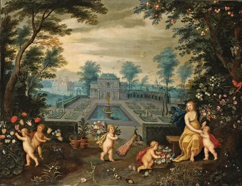 Jan Brueghel d. J. und PIETER VAN AVONT - LANDSCHAFT MIT FLORA