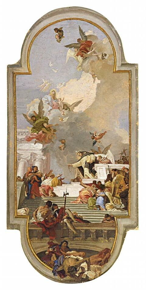 Giovanni Battista Tiepolo - DIE EINSETZUNG DES ROSENKRANZES
