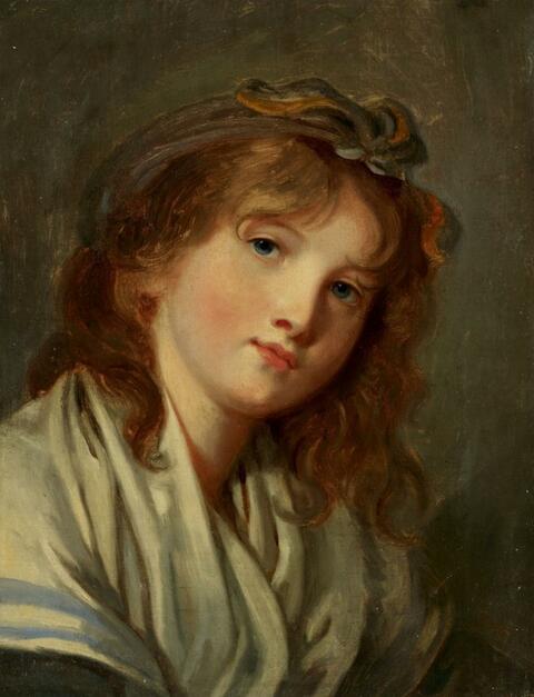 Jean-Baptiste Greuze - BILDNIS EINER JUNGEN FRAU