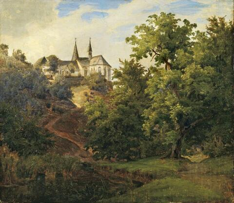 Johann Wilhelm Schirmer - LANDSCAPE WITH CHURCH