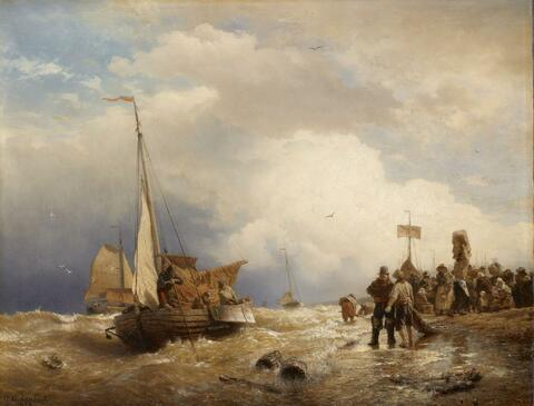 Andreas Achenbach - THE RETURN OF THE FISHER BOATS FROM THE STORMY SEA