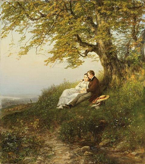 Theodor Schüz - LANDSCAPE WITH YOUNG COUPLE