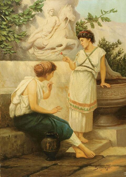 Henryk Siemiradzki - TWO GREEK WOMEN AT THE WELL