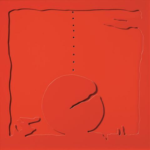 Lucio Fontana - Concetto spaziale - Teatrino rosso