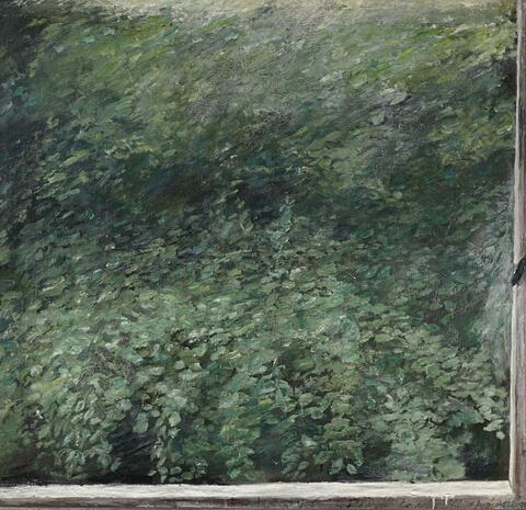Klaus Fußmann - Untitled (View from a Berlin Window onto Green)