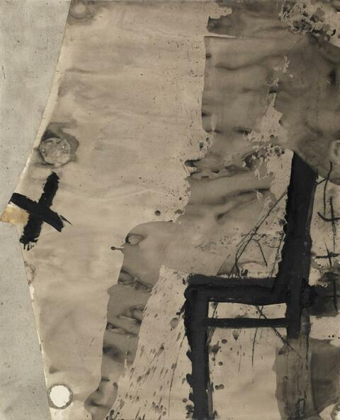 Antoni Tàpies - Untitled (Large India Ink)