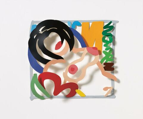 Tom Wesselmann - MAQUETTE FOR COUNTRY NUDE (BRUNETTE, YELLOW CURTAIN)