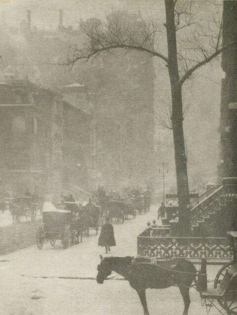 Alfred Stieglitz - THE STREET - DESIGN FOR A POSTER