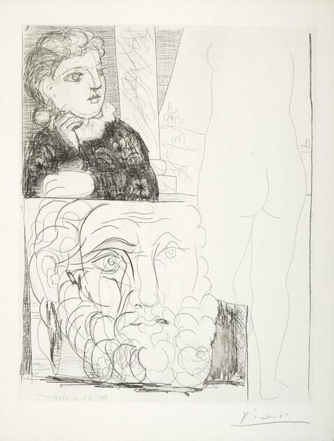 Pablo Picasso - La Bonne dans l'atelier de sculpture