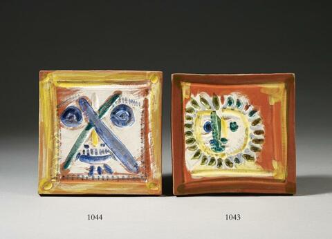 Pablo Picasso - Visage aux traits en X
