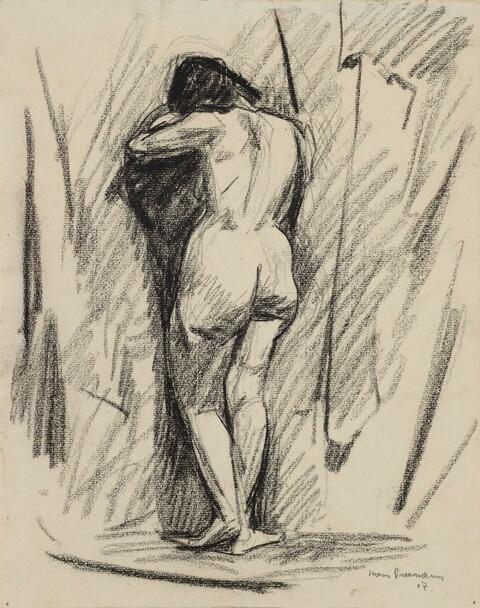 Hans Purrmann - Female Nude seen from Behind