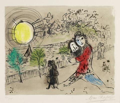 Marc Chagall - Le Soleil jaune