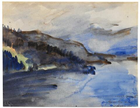 Lovis Corinth - Regentag am Walchensee