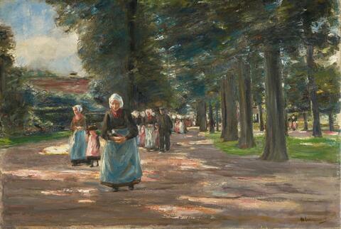Max Liebermann - Kirchgang in Laren (Going to Church in Laren)