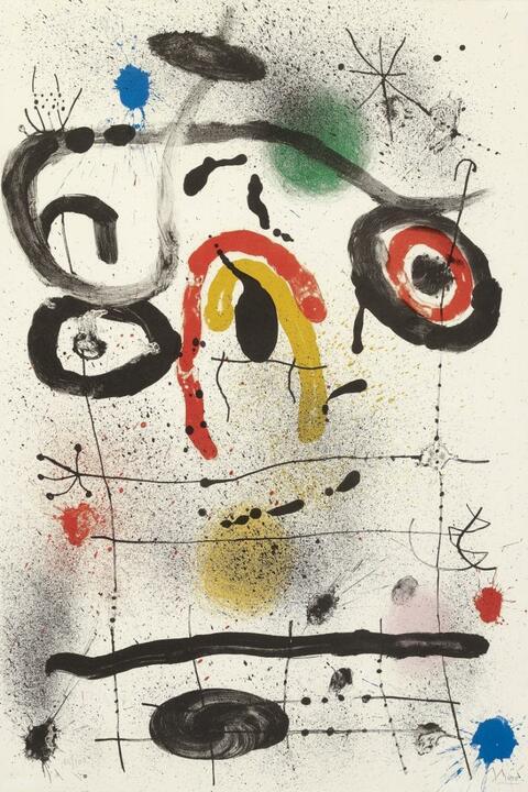 Joan Miró - Personnage au-dessus l'horizon
