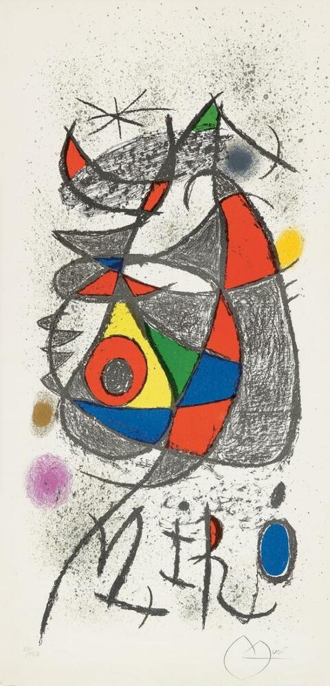 """Joan Miró - Plakat für die Ausstellung """"Peintures, gouaches, dessins"""""""