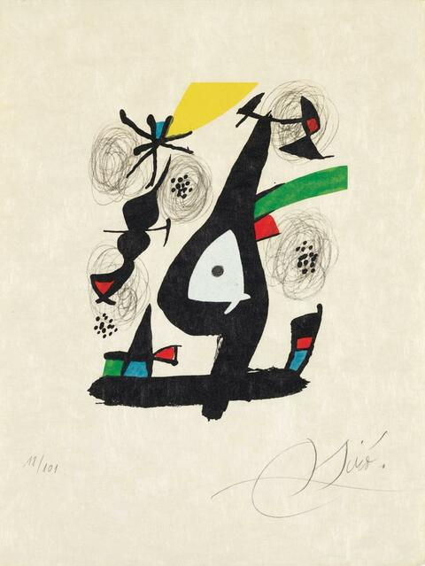 """Joan Miró - aus: """"La Mélodie Acide"""""""