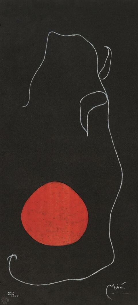 Nach Joan Miró - Oiseau devant le soleil
