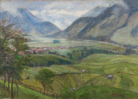 Otto Modersohn - Blick auf Hindelang (Wiesen)