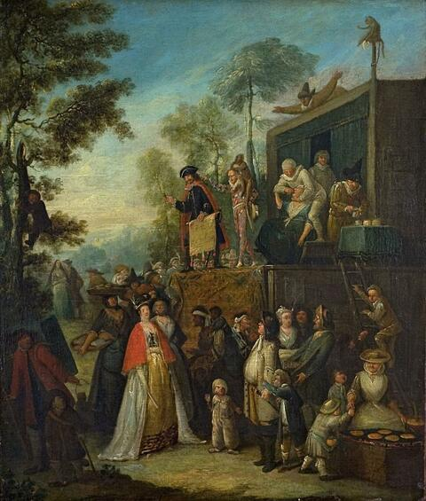 German School, 18th century - AN OUTDOOR THEATRICAL PERFORMANCE