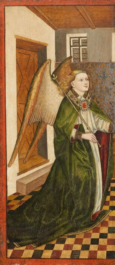 Niederrheinischer Meister um 1470/1480 - VERKÜNDIGUNG AN MARIA GEISSELUNG UND DORNENKRÖNUNG