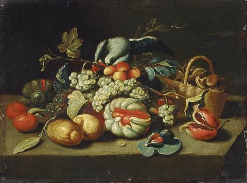 Jan van Kessel the Elder, in the manner of - A PAIR OF STILL LIFES WITH FRUITS AND VEGETABLES