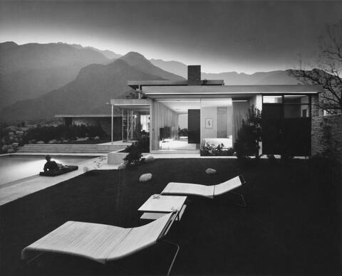 Julius Shulman - HOUSE EDGAR KAUFMANN, COLORADO DESERT, PALM SPRINGS, CA