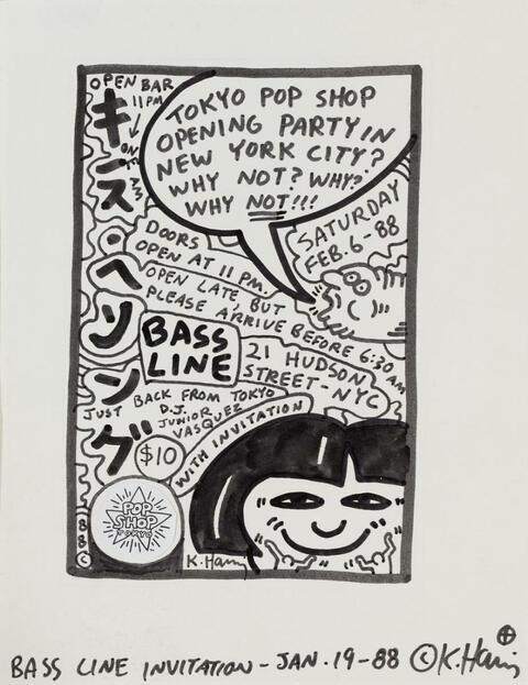 Keith Haring - Bass Line Invitation