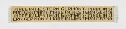 Rosemarie Trockel - Ohne Titel (Made in Western Germany)