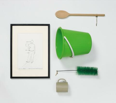 Erwin Wurm - Take the objects and hold the position for one minute (do not think)