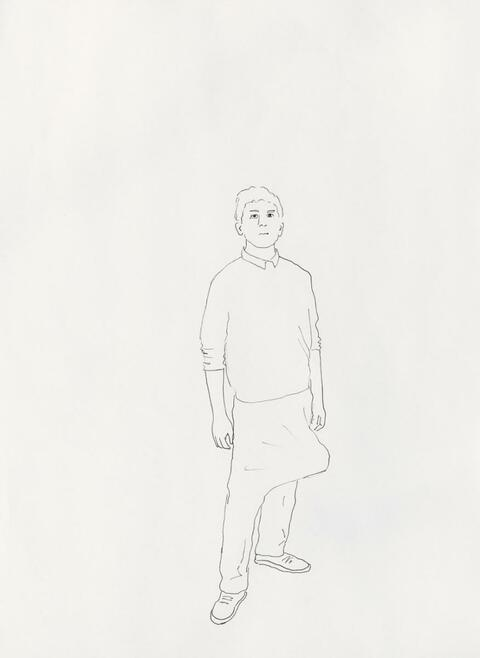 Erwin Wurm - Looking for a Bomb. Carrying a bomb