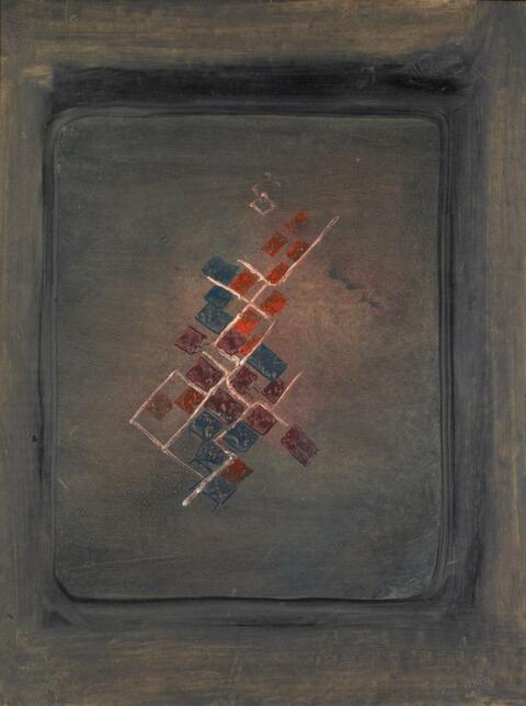 Fritz Winter - Komposition in Rot und Schwarz I