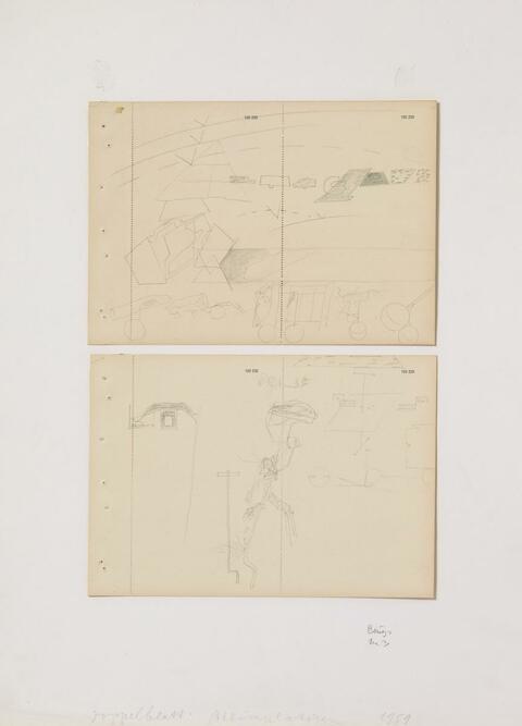 Joseph Beuys - Akkumulatoren Doppelblatt