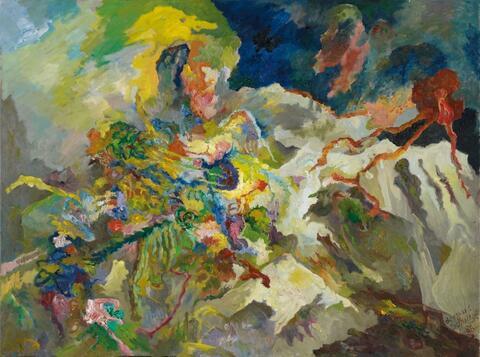 Bernard Schultze - Salvator rosa eingedenk (In remembrance of Salvator rosa)