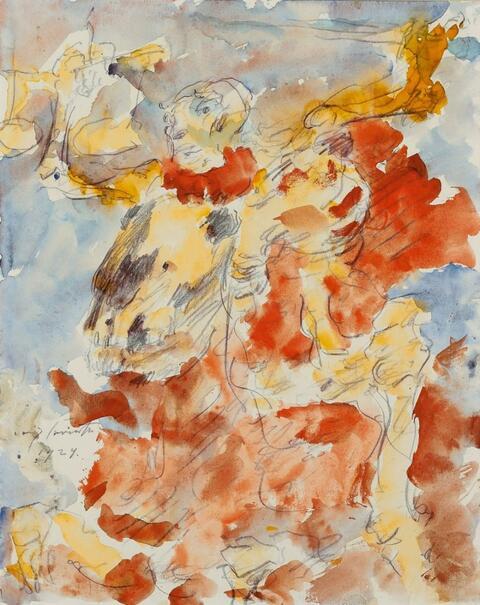 Lovis Corinth - Der apokalyptische Reiter