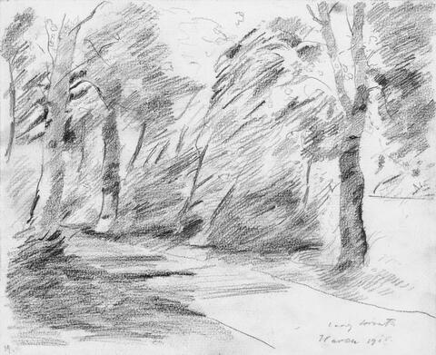 Lovis Corinth - Weg zwischen Bäumen (Waren)