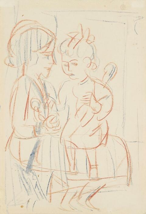 Ernst Ludwig Kirchner - Mutter und Kind (Mother and Child)