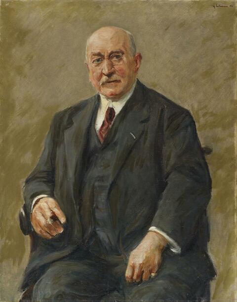 Max Liebermann - Regierungs-Baumeister Adolph Schiller (Master-Builder and Architect Adolph Schiller)
