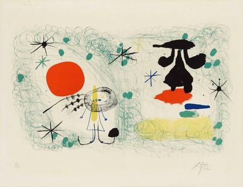 Joan Miró - Personnage dans un jardin II