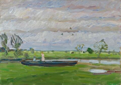 Otto Modersohn - Maitag in den Wümmewiesen
