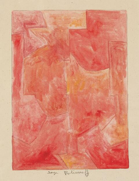 Serge Poliakoff - Composition rouge