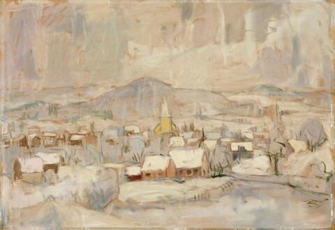 Eberhard Viegener - Winterliche Dorflandschaft