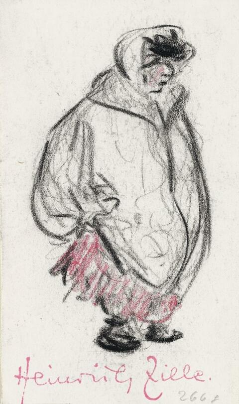 Heinrich Zille - Mädchen im dicken Mantel